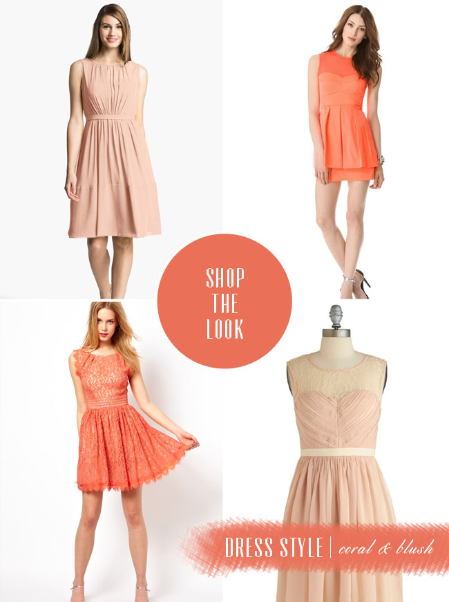 shop the look peach and coral dresses