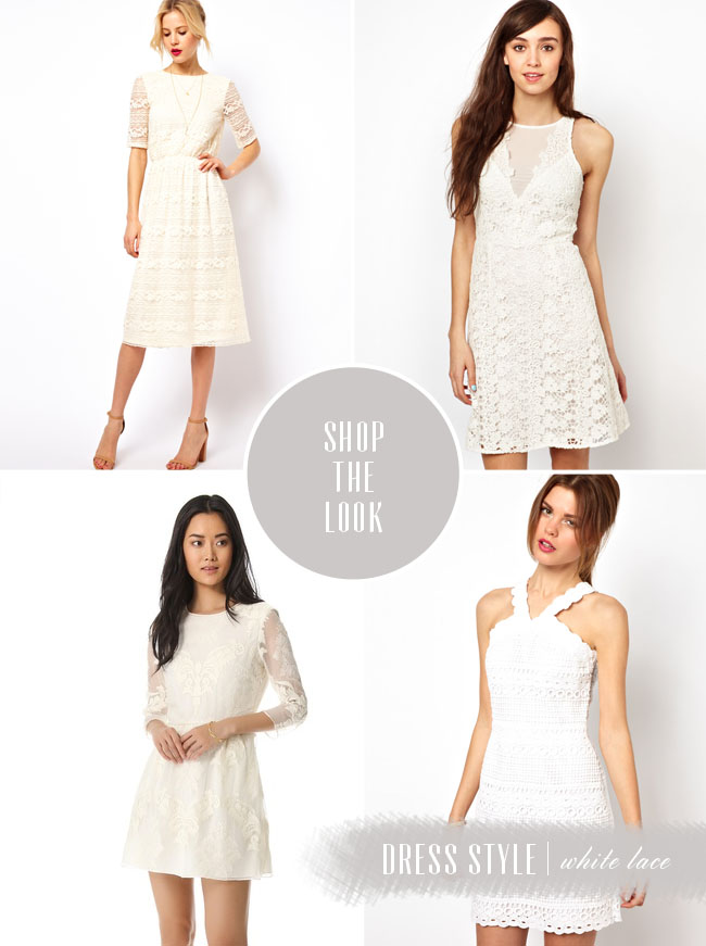 shop the look white lace dresses