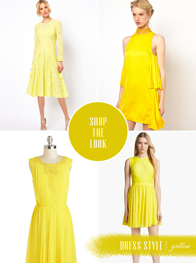 shop the look yellow dresses
