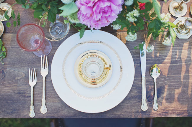 bohemian glam place setting