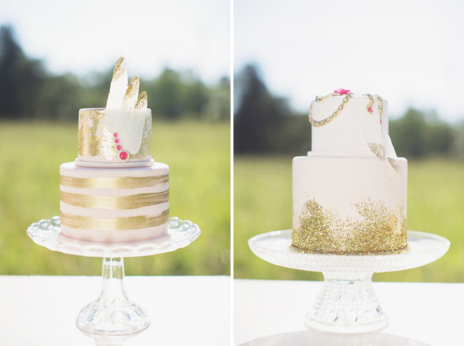 bohemian glam cakes