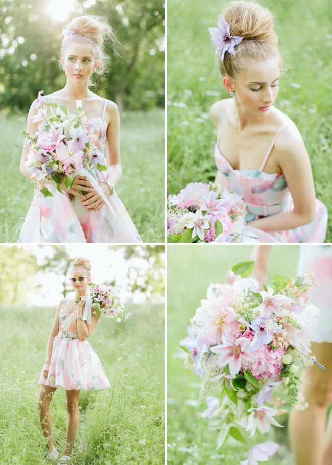 watercolor bridesmaid dress