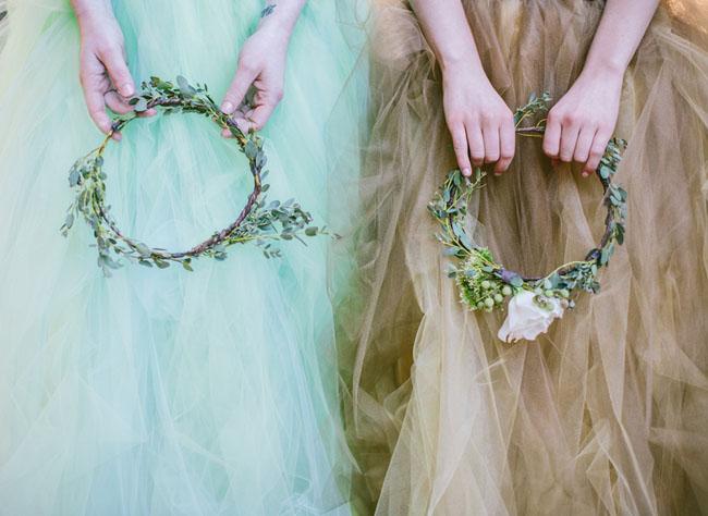 flower hair wreaths