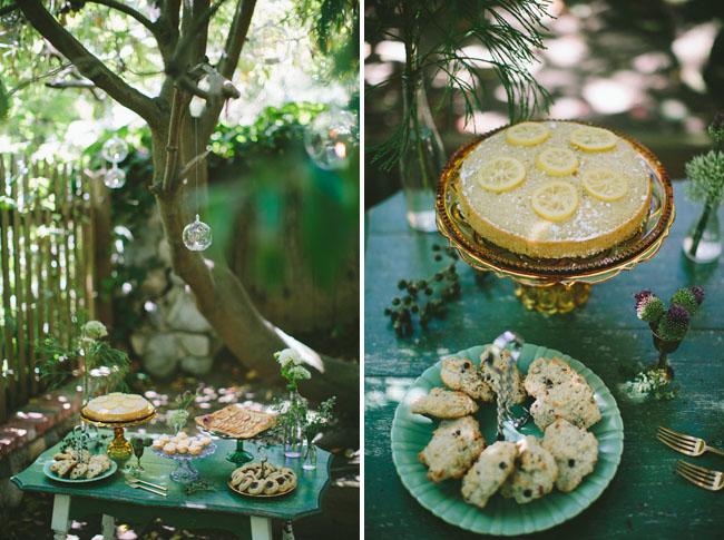 lemon cake and scones
