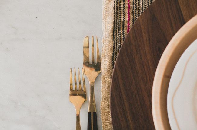 gold forks