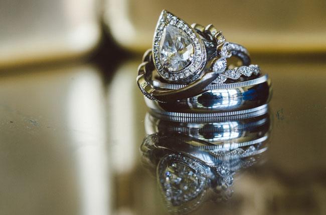 20s inspired wedding rings