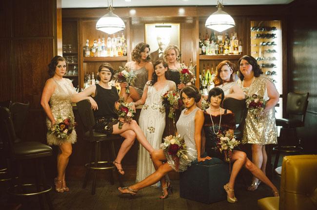 20s bridesmaids
