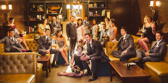 20s wedding party