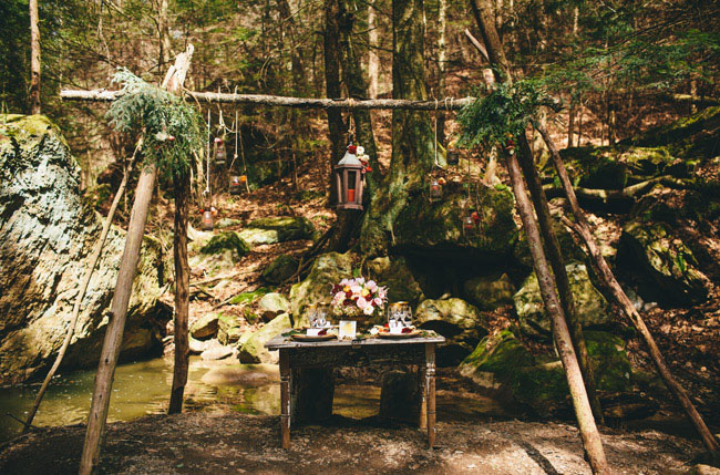 forest tablescape