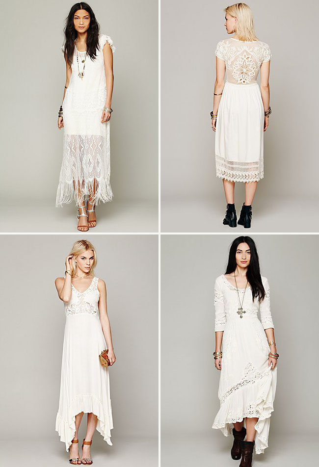 fringe wedding dresses