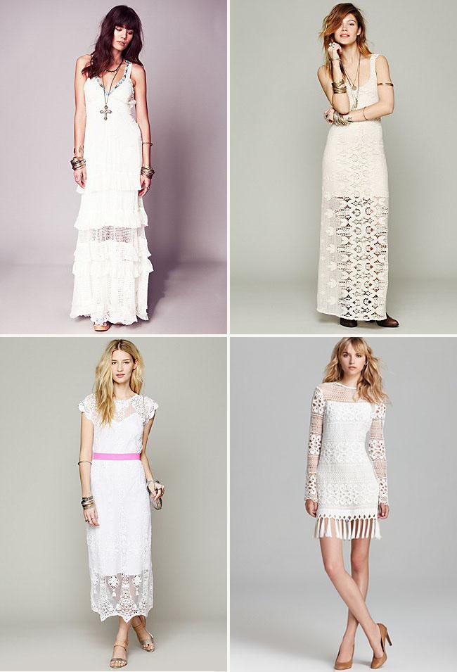 fringe and crochet wedding dresses