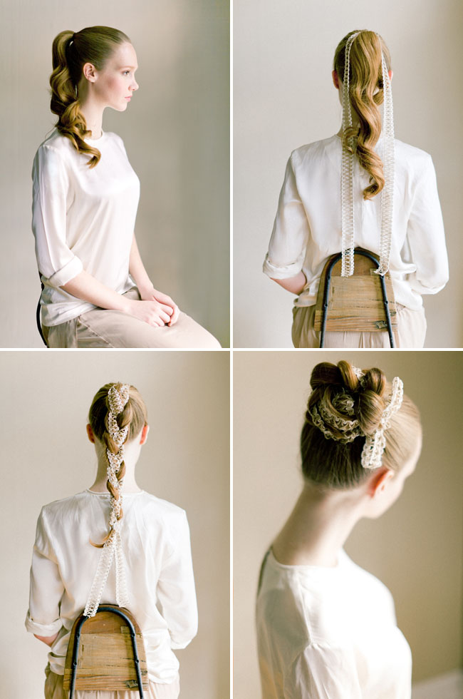 fabric bun hair DIY