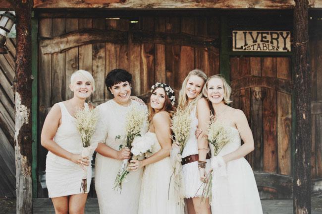 western bridesmaids