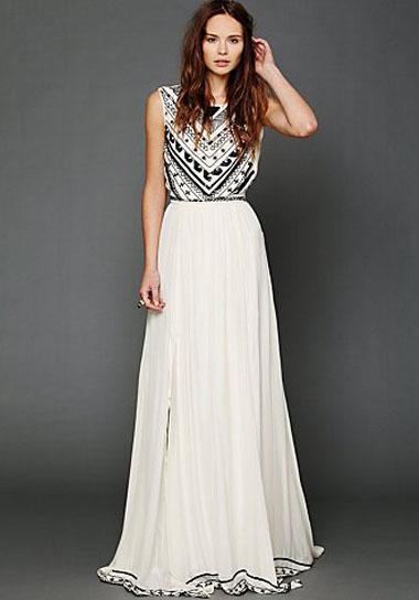 Gray Silk Chiffon Dress