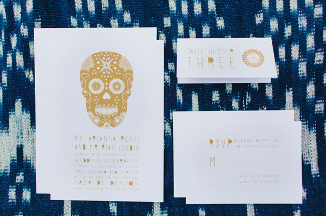 mexican folk art invitation