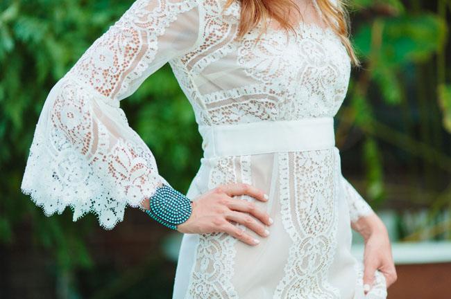 lace dress detailing
