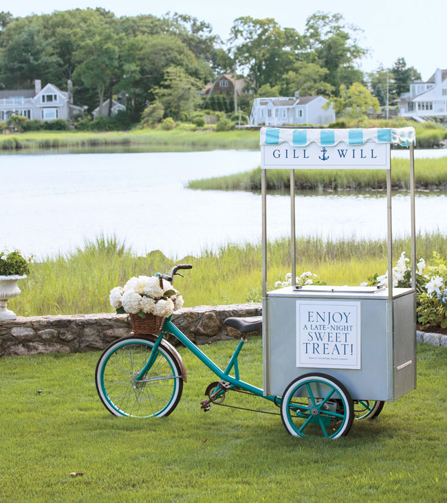 nautical wedding cart