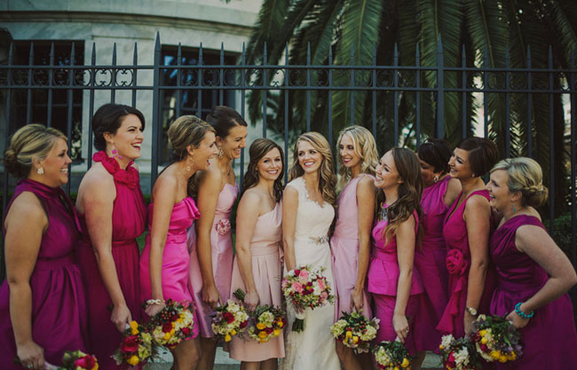 hot pink bridesmaids