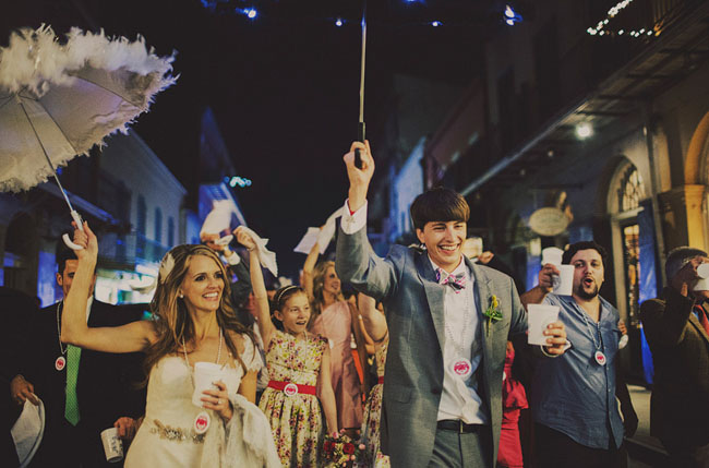 new orleans wedding parade