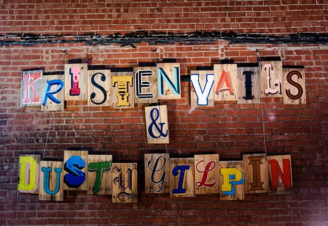 letter type dessert backdrop
