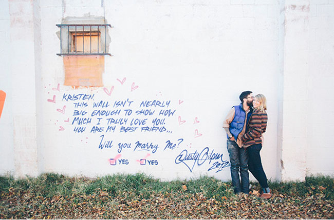 i love you graffiti proposal