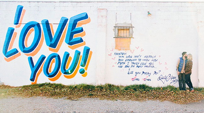 i love you graffiti