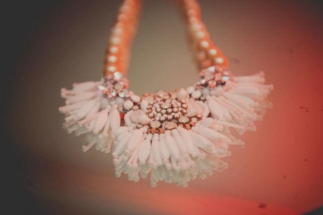 feather bridal necklace