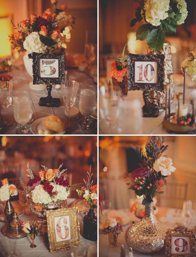 vintage frame table numbers
