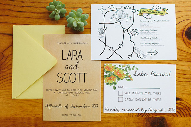 picnic wedding invitation