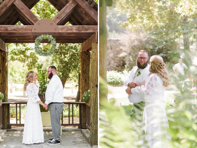 picnic wedding ceremony