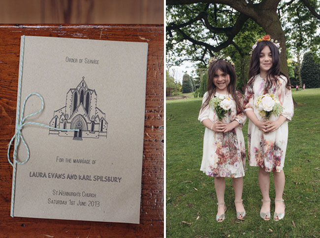 UK flower girls with crowns