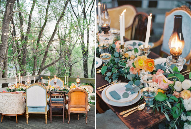 mismatched dinner chairs