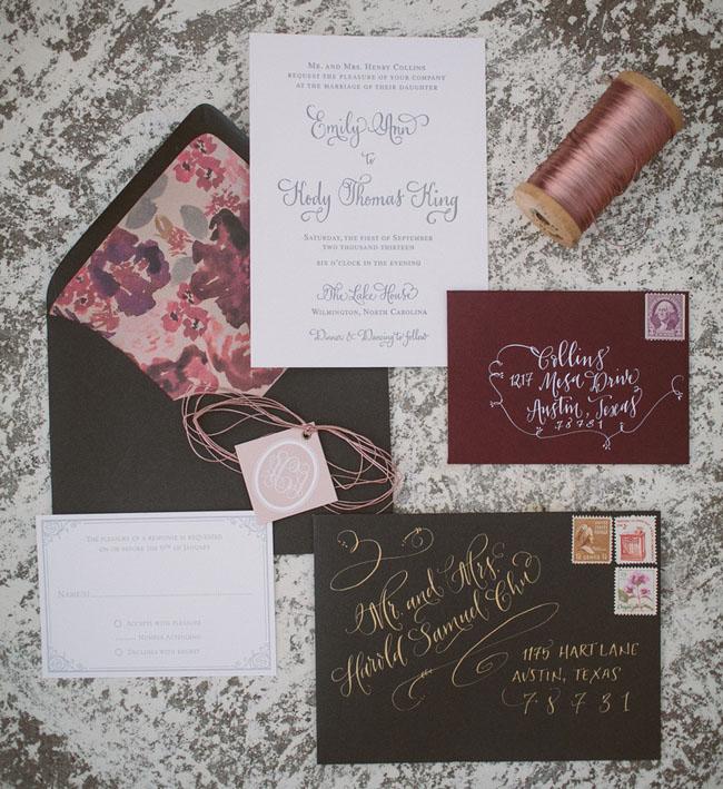 velvet bohemian invitation