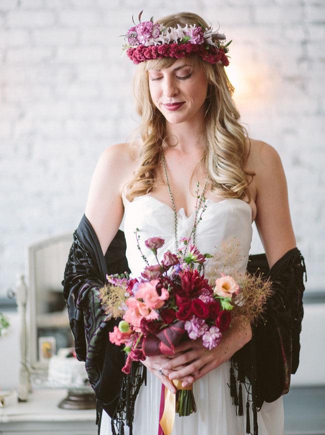 velvet bohemian bouquet
