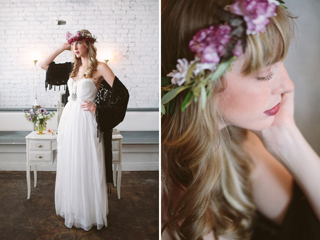 velvet bohemian flower crown
