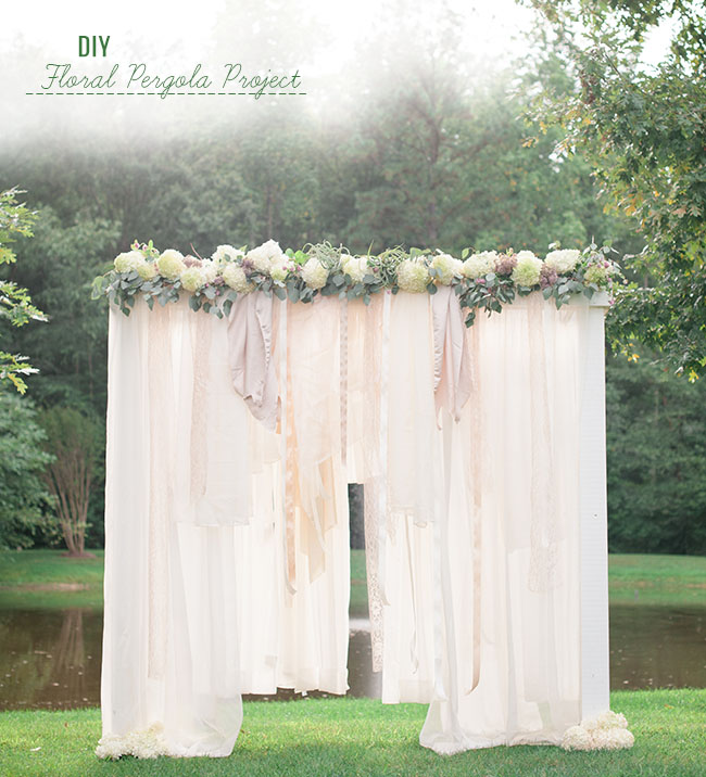 Diy floral pergola project for Diy wedding ideas for summer