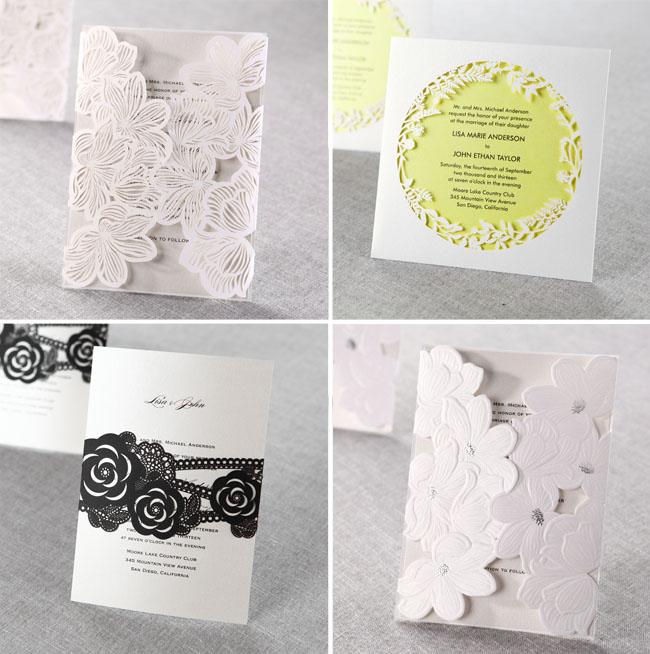 Laser Cut Wedding Invitations 5 Unique Laser cut wedding invitations