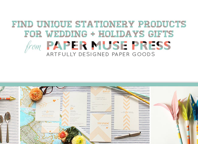 Shop Wedding Gifts: Shop For Wedding + Holiday Gifts With Paper Muse Press