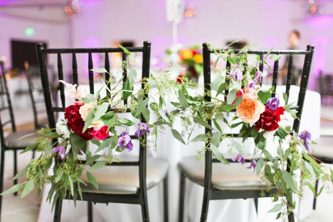 chair flower decor