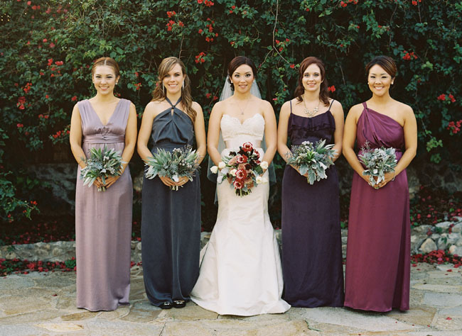 plum shades bridesmaids