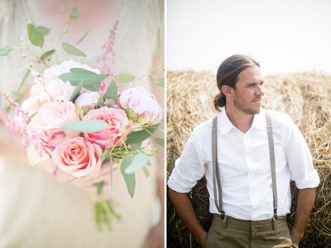 groom in suspenders