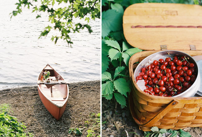 canoe and picnic