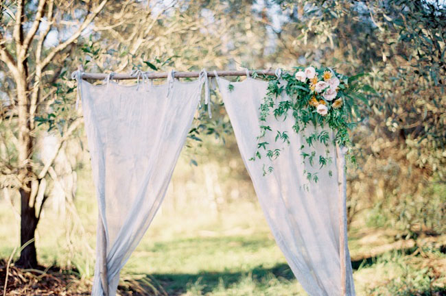 draped curtain backdrop