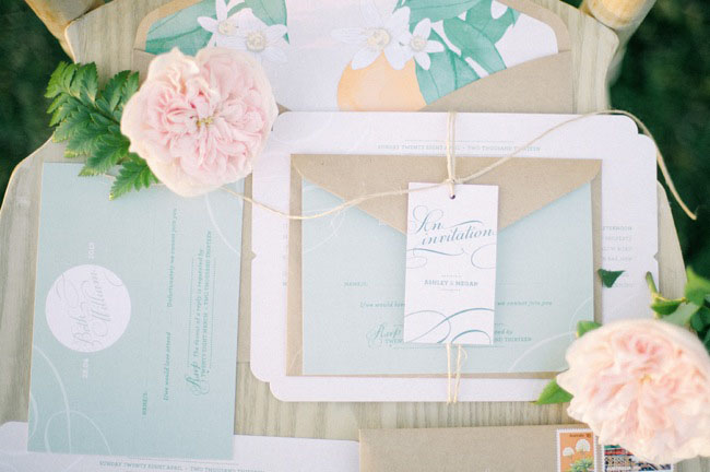 citrus inspired invitation set