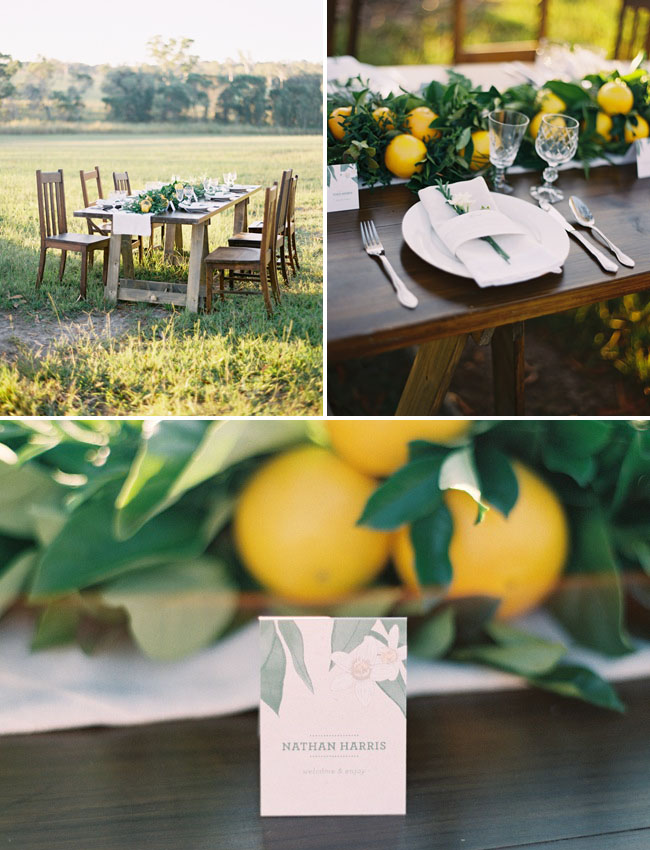 citrus table decor