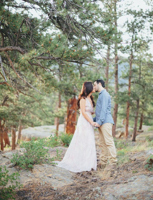 colorado woods engagement