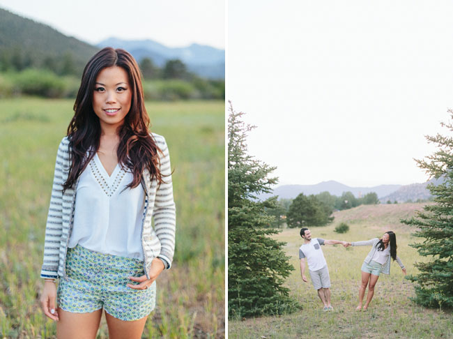 striped cardigan and shorts outfit