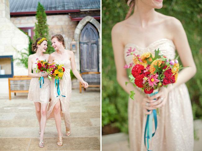 gold bridemaids