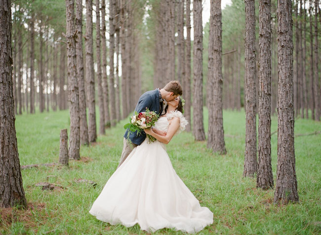 fall bride and groom