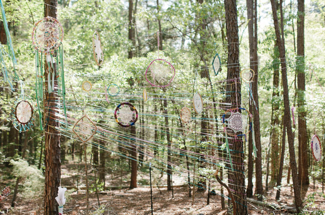 string and dreamcatcher installation